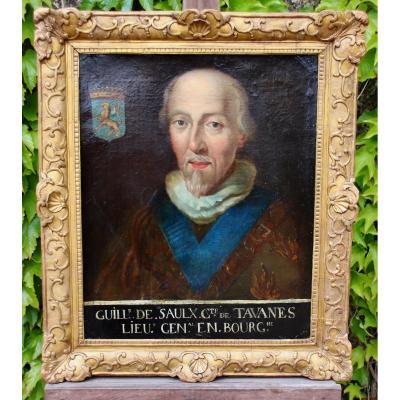 18th Century Protrait Painting Guillaume De Saulx