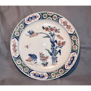 Large XVIIIth Dish In Delft Faience