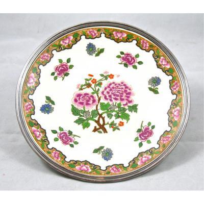 Assiette De Porcelaine Bordé d'Argent