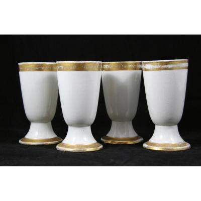 Ensemble De 4 Brulots XIXème En Porcelaine