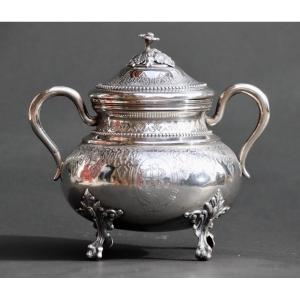 Nineteenth Sugar Bowl In Sterling Silver Goldsmith Doutre And Roussel