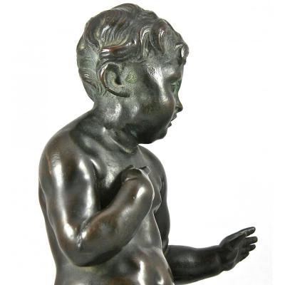 Bronze XVIIIème d'Un Chérubin Assis