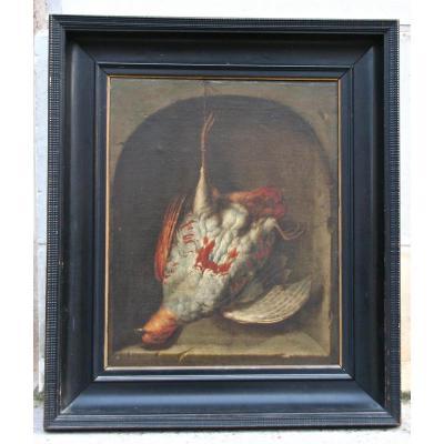 """""""Perdrix dans une niche"""" attribué à Jan Vonck"""