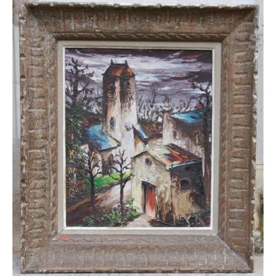 """Léon SCHWARZ ABRYS """" Le village"""""""