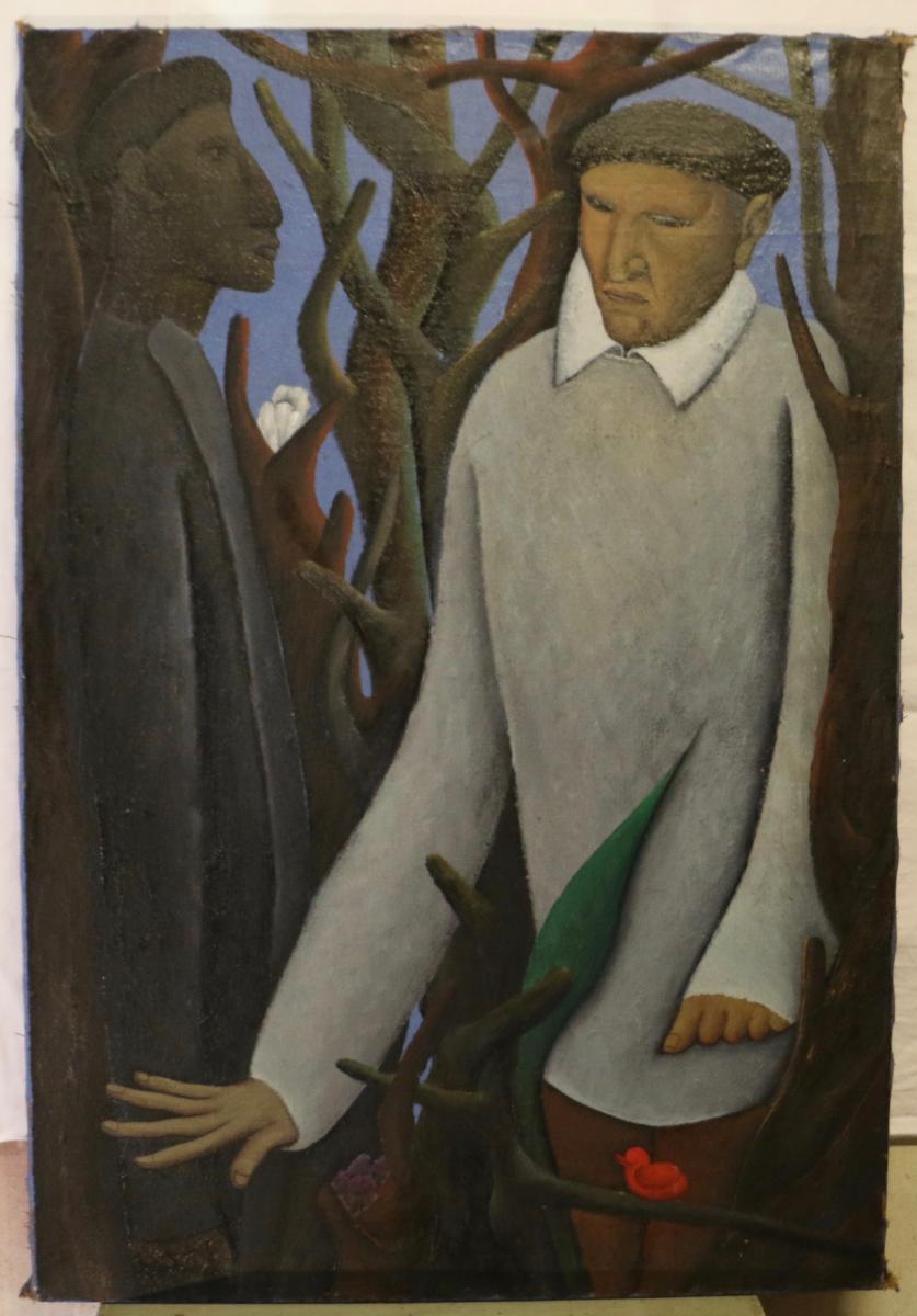 René Audebès Oil On Canvas 1958