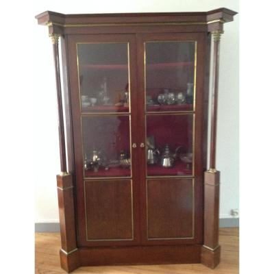Mahogany Display With Detached Columns