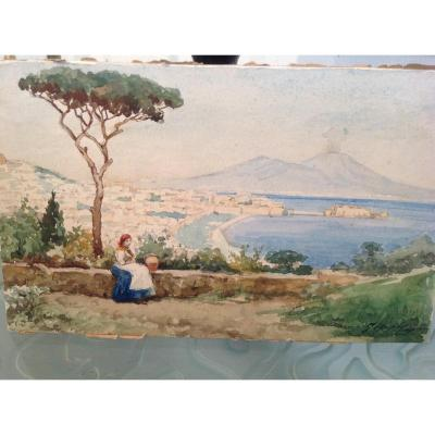 The Bay Of Naples By Josef Caspar