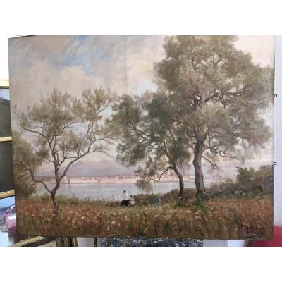 Antibes Les Remparts En 1891 Par Paul Sebilleau