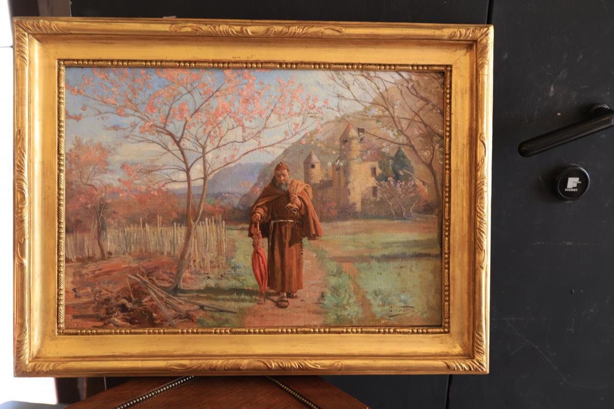 Capuchin In A Landscape