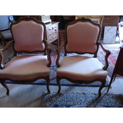 Pair Of Armchairs 18 Eme