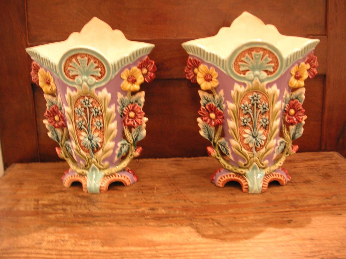 Barbotines (2) / Paire de vases