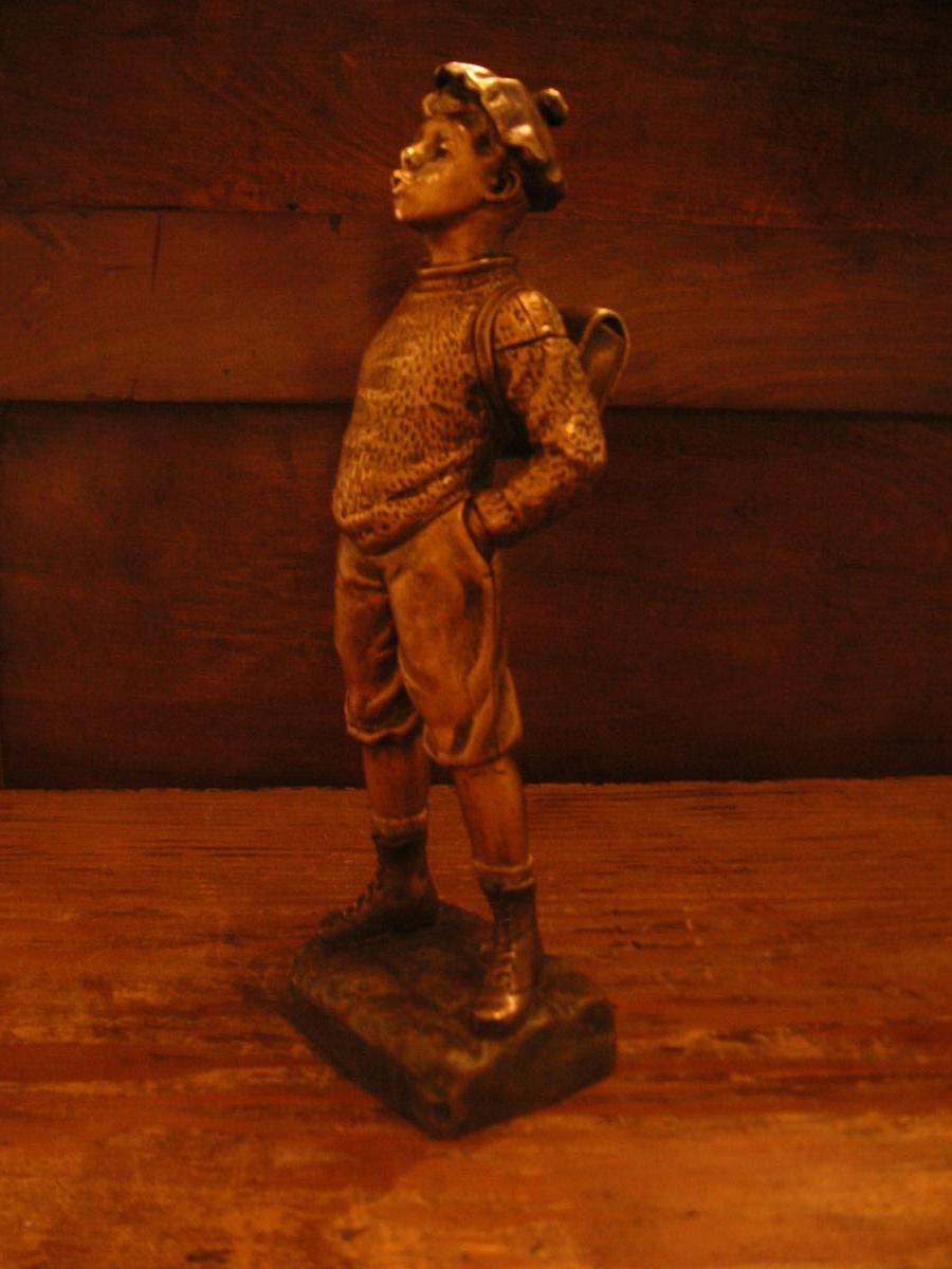Omerth Georges(actif en :1895-1925) :bronze doré