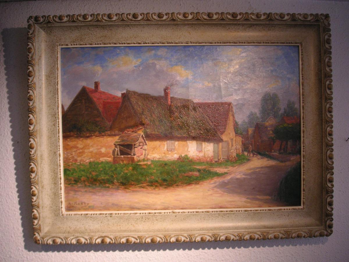Tableau 20 ème (1930) signé  / huile sur toile