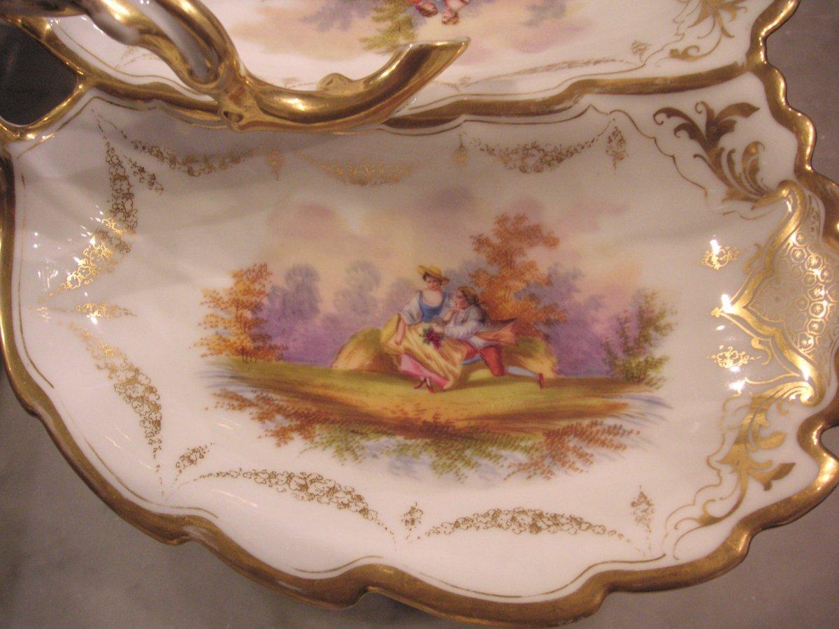 Porcelaine de Paris fin XIXème /Serviteur muet-mendiant-photo-3