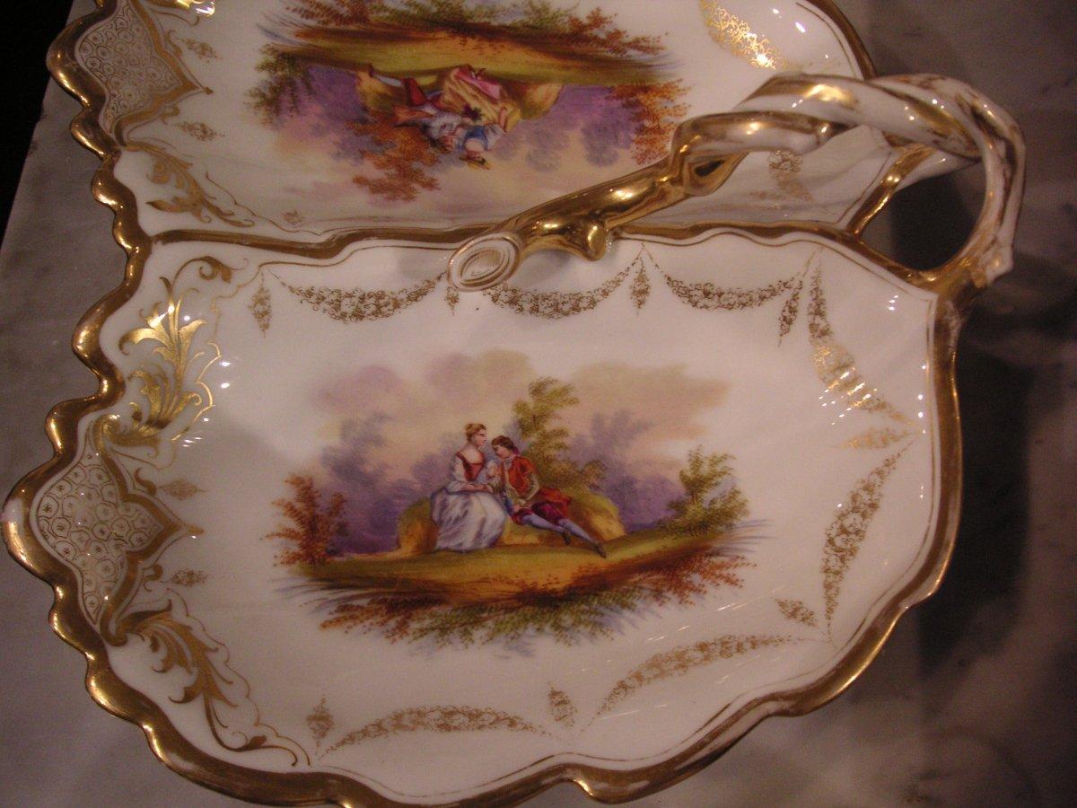 Porcelaine de Paris fin XIXème /Serviteur muet-mendiant-photo-4