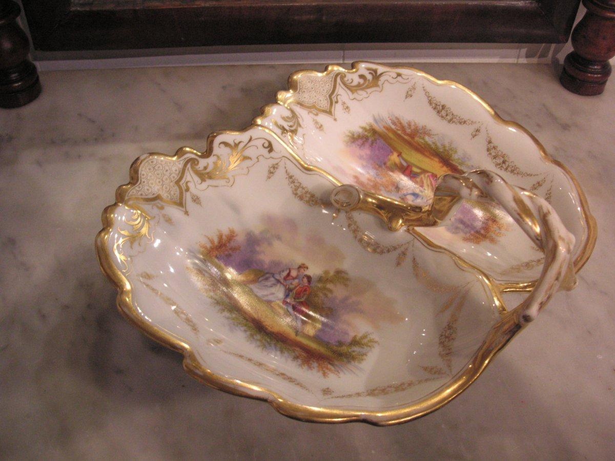 Porcelaine de Paris fin XIXème /Serviteur muet-mendiant-photo-1