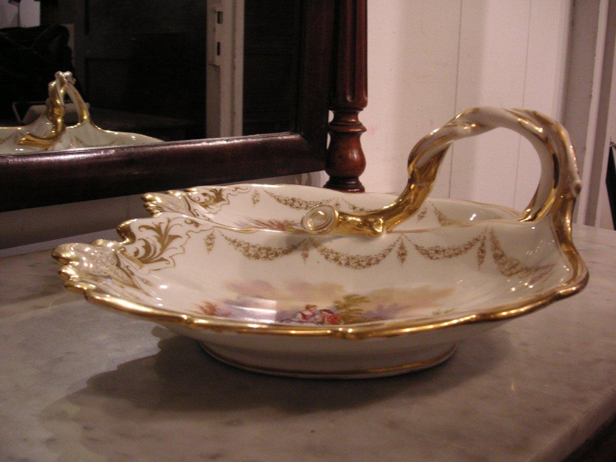 Porcelaine de Paris fin XIXème /Serviteur muet-mendiant-photo-2