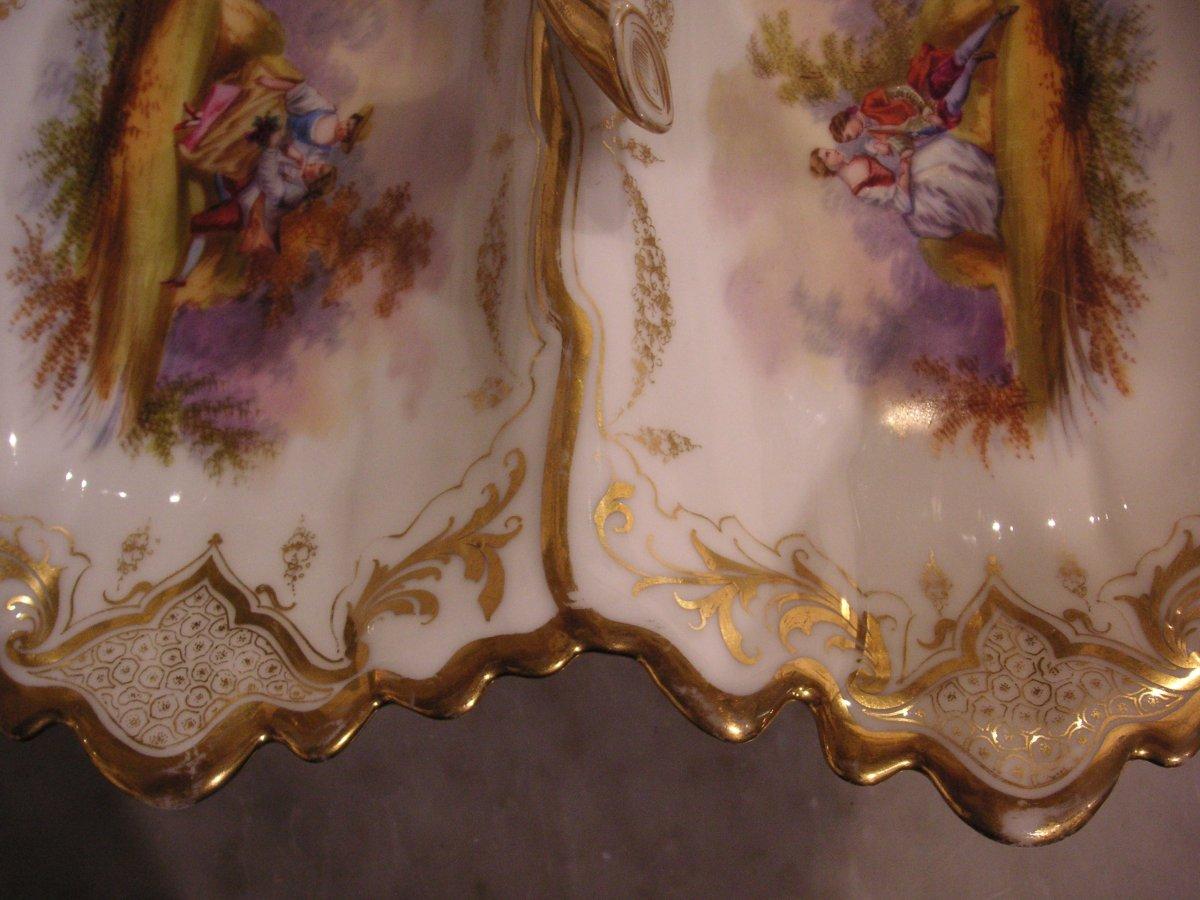 Porcelaine de Paris fin XIXème /Serviteur muet-mendiant-photo-5