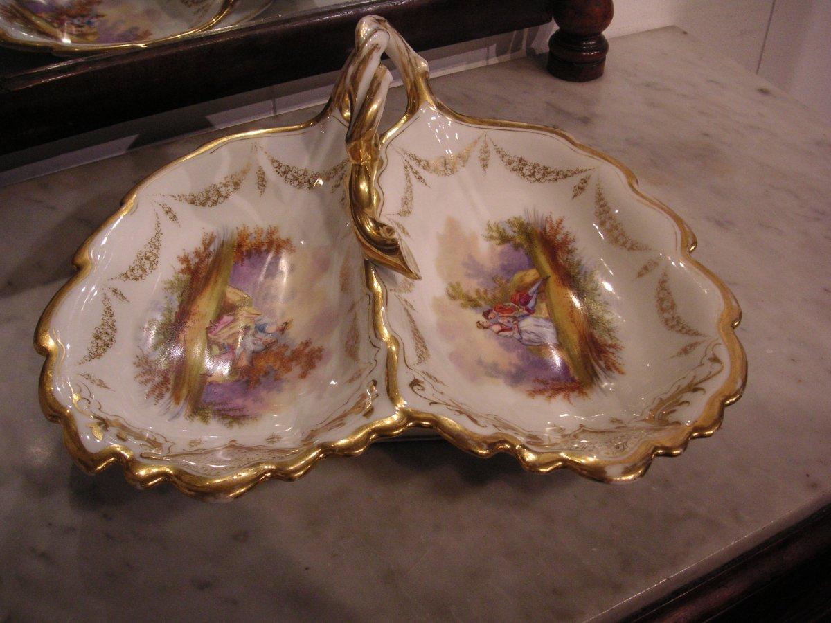 Porcelaine de Paris fin XIXème /Serviteur muet-mendiant