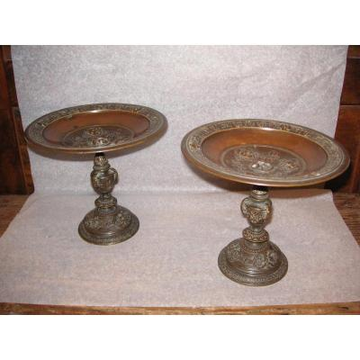 Bronze Patina Medal Cups / 19th