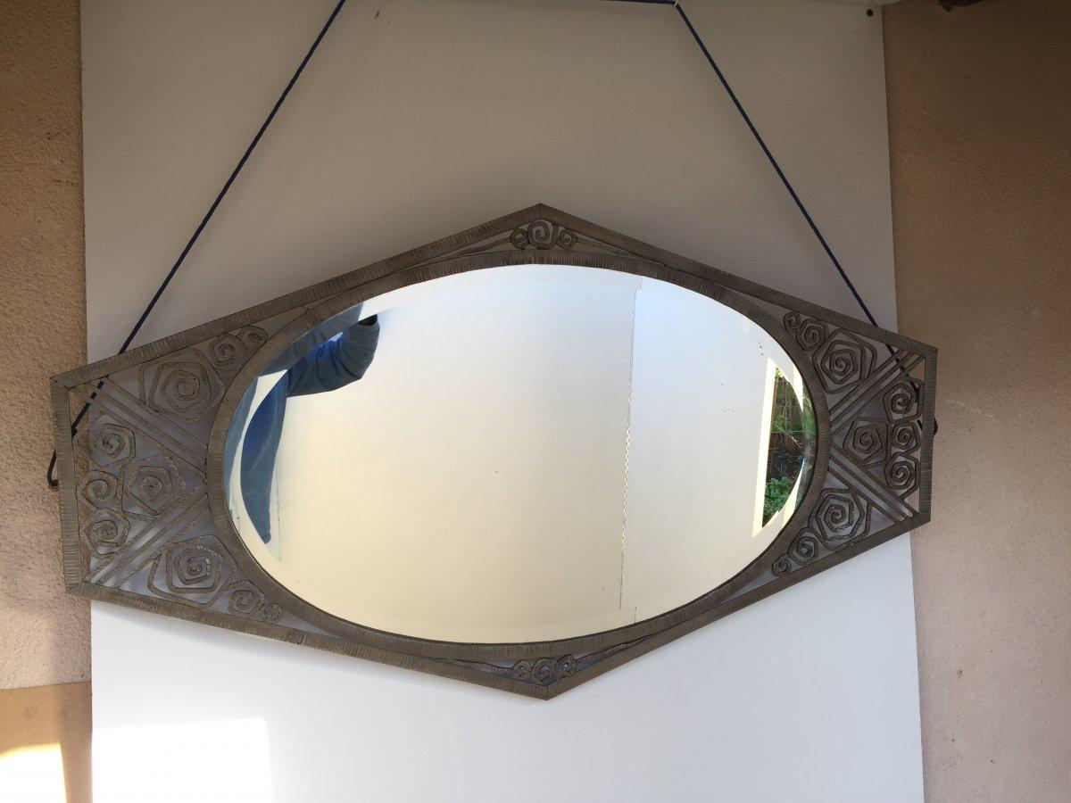 Art Deco Wrought Iron Mirror