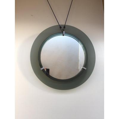 1970s Round Mirror Fontana Arté Attrib Max Ingrand