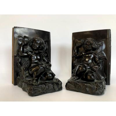 Art Deco Bookends By Ronson