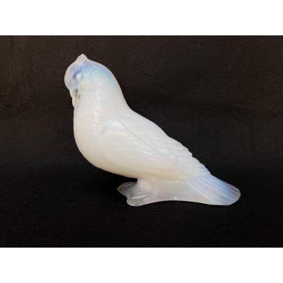 Presse Papier Oiseau Opalescent Signé Cesari