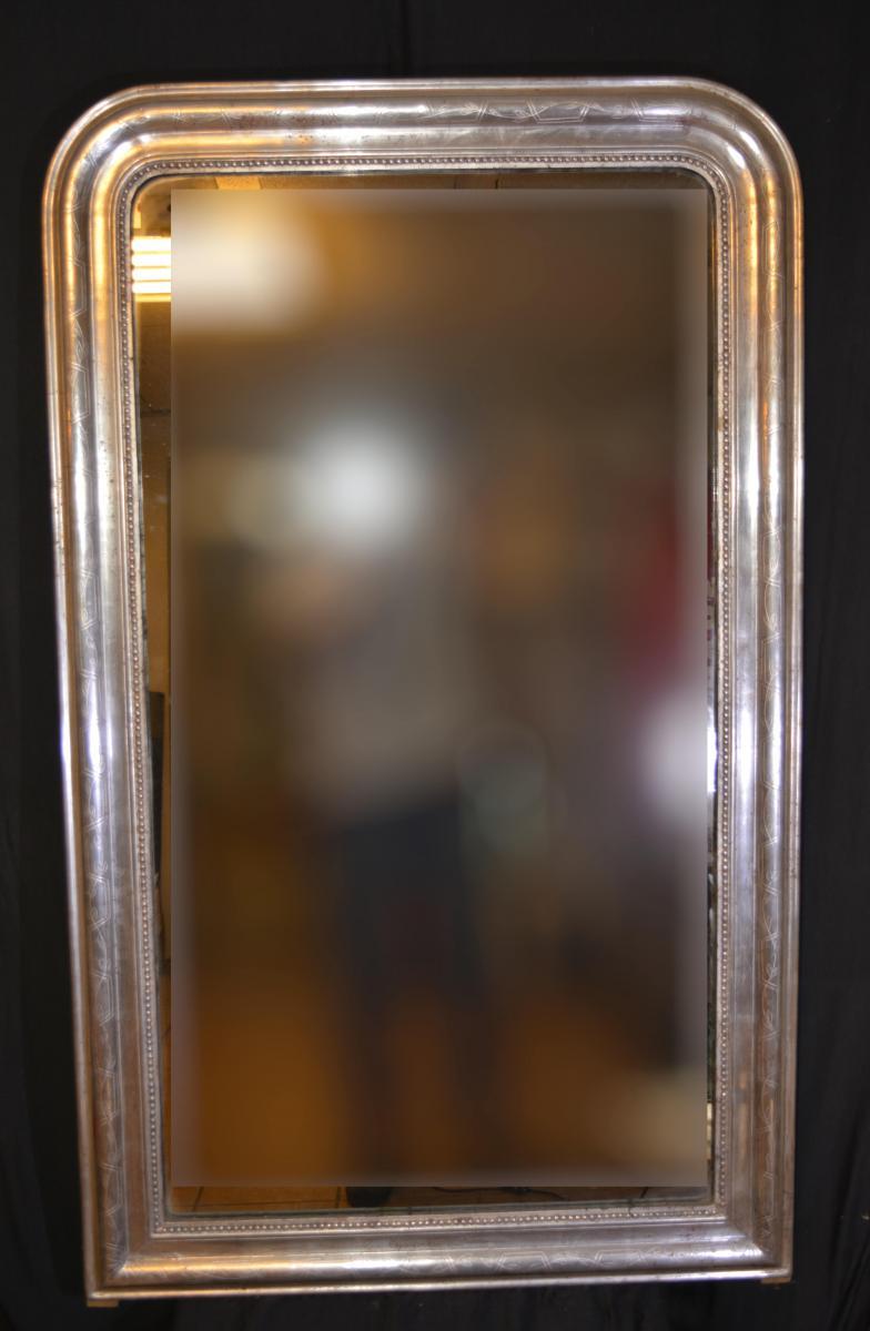 Miroir Louis Philippe Argenté