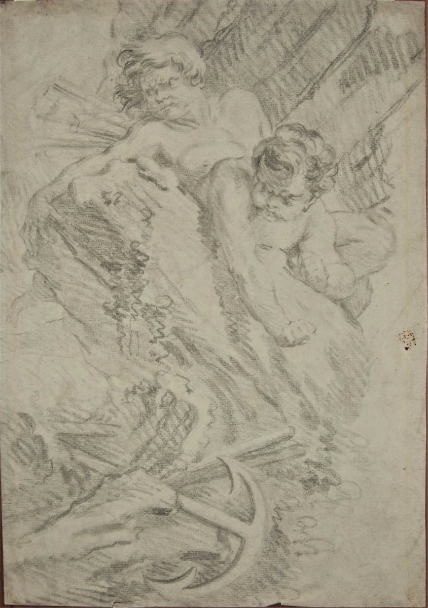 """François Boucher - Counter-proof - Preparating To """"juno Asking Eole To Liberate The Winds """""""