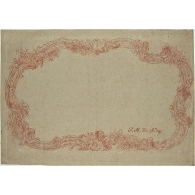 Rocaille Frame Project - Signed. 2 Collection Stamps : Lempertz & Blome