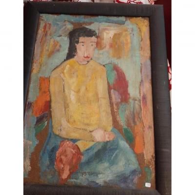 Portrait Of Sitting Woman