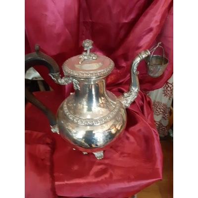 Very Beautiful Teapot In Sterling Silver