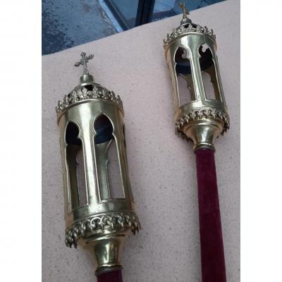 Pair Of Processional Torches