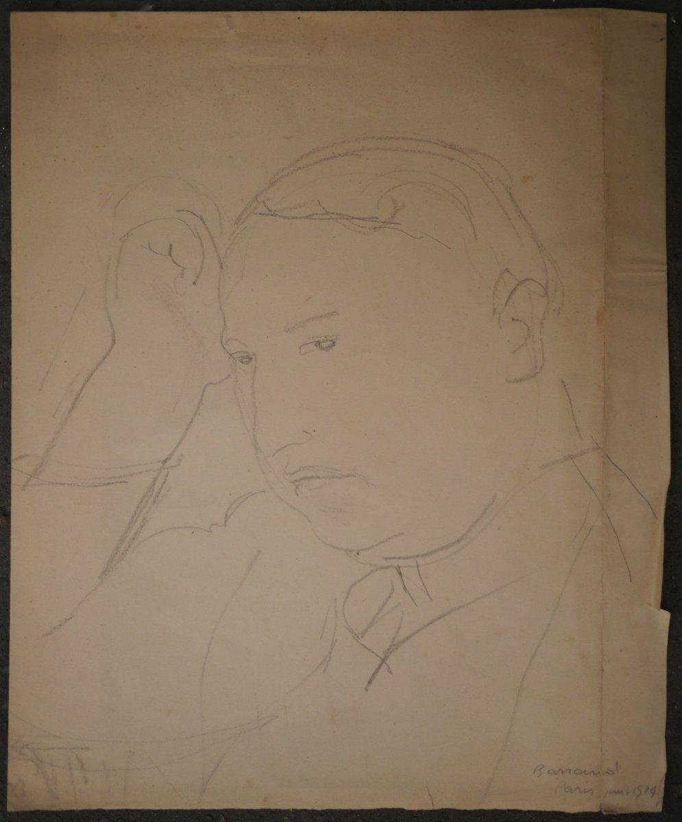 Maurice Barraud. Portrait Original. Francis Carco. 1924.