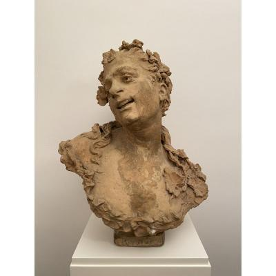 Victorian Antoine Bastet (1852-1905). Terracotta.