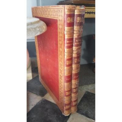 2 Vol. Maroquin Rouge In Plano.  Musée étrusque
