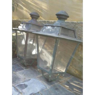 Pair Of Large Lanterns For Outdoor