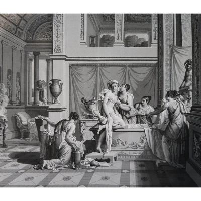 Panoramique  néoclassique en grisaille