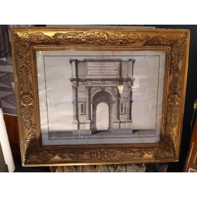 Engraving Arch Of Titus In Rome Period XVIII