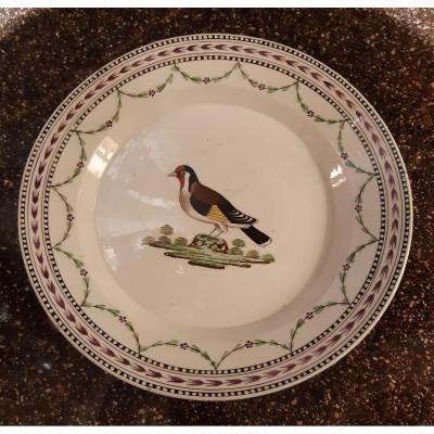 Assiette Em Porcelaine  Naples Fin 18eme