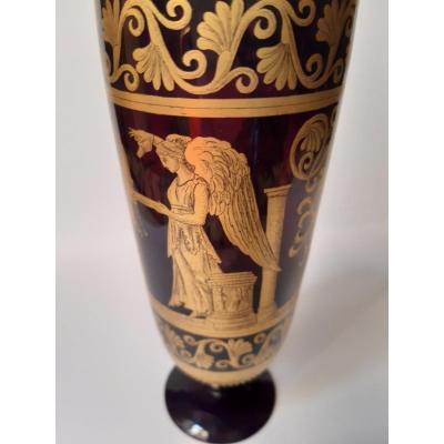 Venise, Vase Forme Antique Murano 19eme