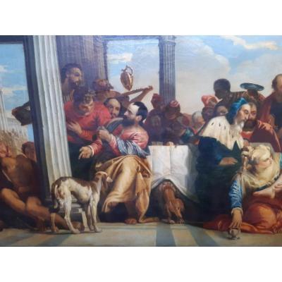 Grand Tableau Italien d'art sacré début 19eme
