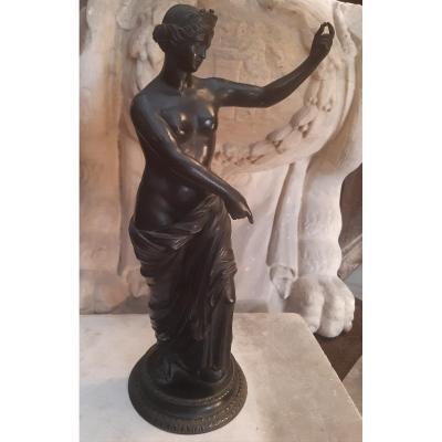 Bronze Grand Tour, Jeune Femme Drapée à l'Antique