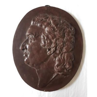 Medaillon  Profil De Condorcet Stuco/scagliole