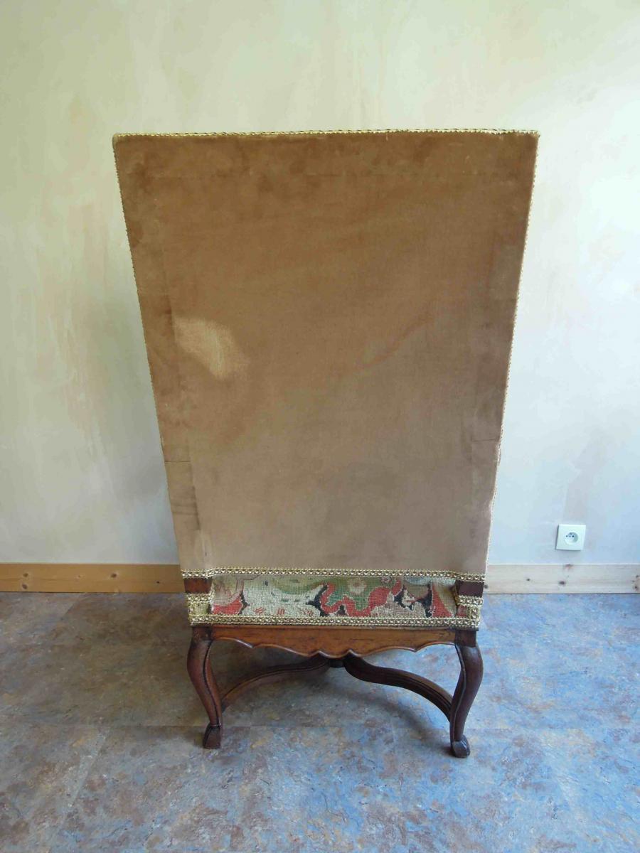 Paire de fauteuils en noyer d'époque Régence-photo-2