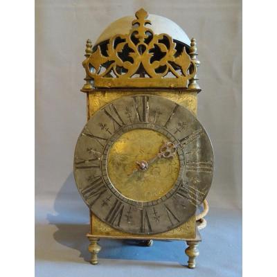 Mouvement d'horloge à une aiguille début XVIII