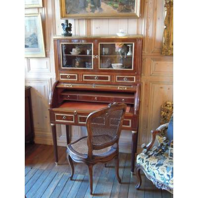 Mahogany Cylinder Desk With Showcase, Louis XVI Period
