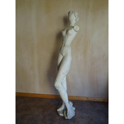 Grand nu en plâtre de Peter Voulkos