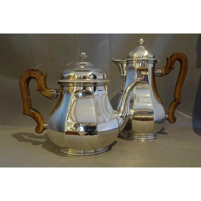 Coffee Pot And Teapot In Sterling Silver From Tétard Frères